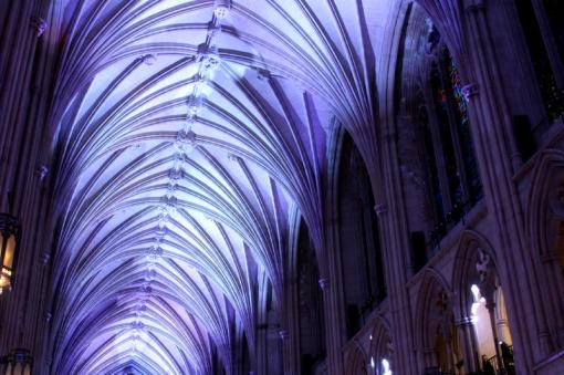 Washington National Cathedral - Nave vault - Centennial Gala lighting